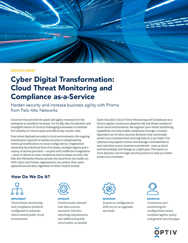 Cyber Digital Transformation: Cloud Threat Monitoring and Compliance as-a-Service