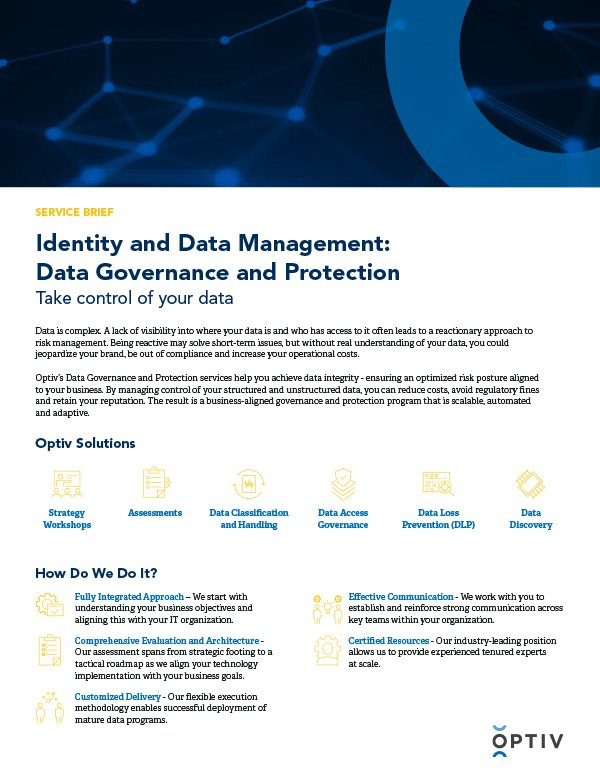 Identity and Data Management: Data Governance and Protection