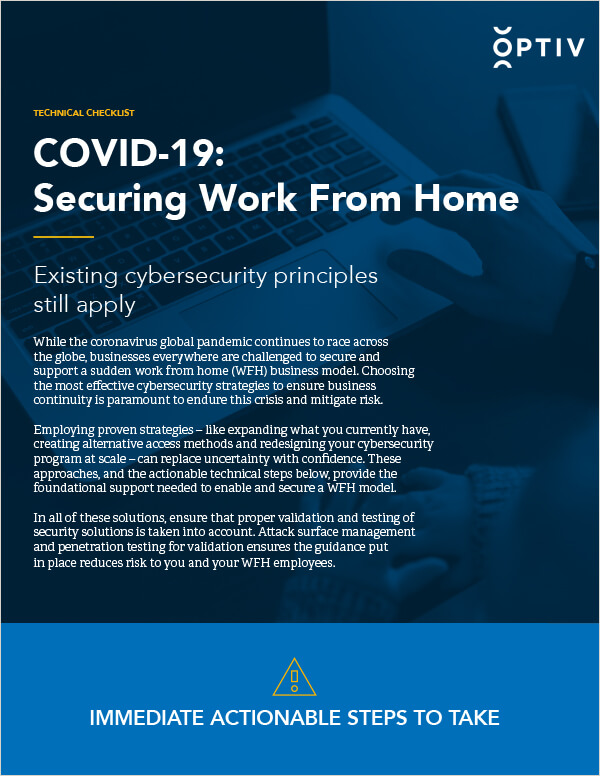 COVID-19: Securing Work From Home Checklist