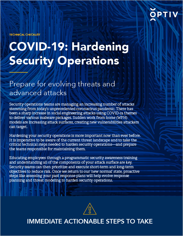 COVID-19: Hardening Security Operations Technical Checklist