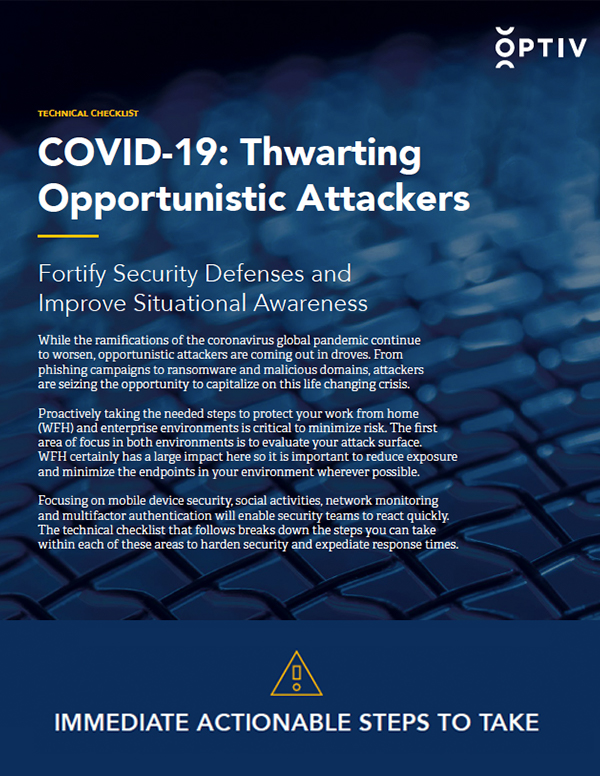 COVID-19: Thwarting Opportunistic Attackers Technical Checklist