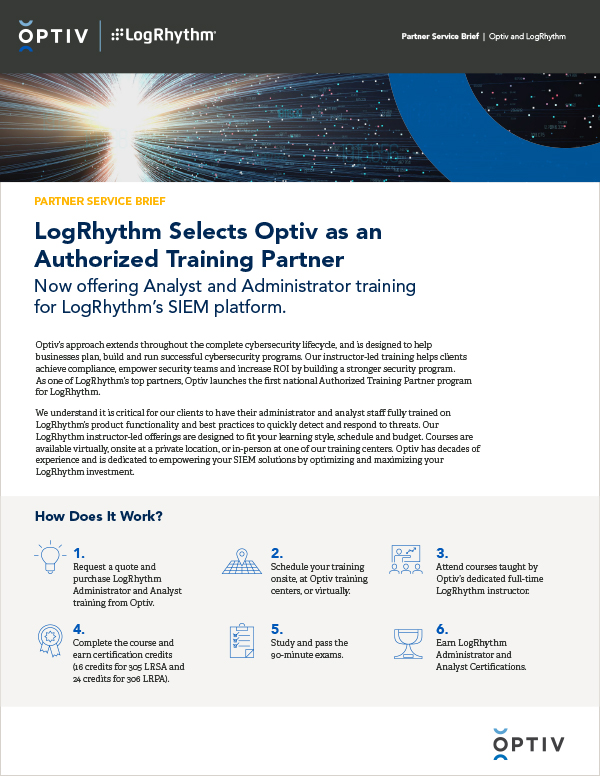 LogRhythm Selects Optiv as an Authorized Training Partner