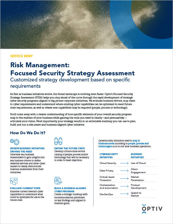 Focused Security Strategy Assessment