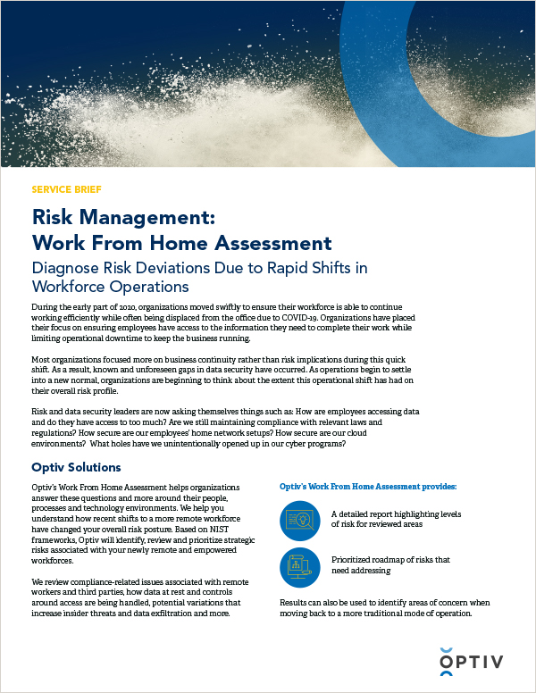 Risk Management:  Work From Home Assessment