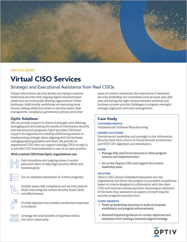 Virtual CISO Services