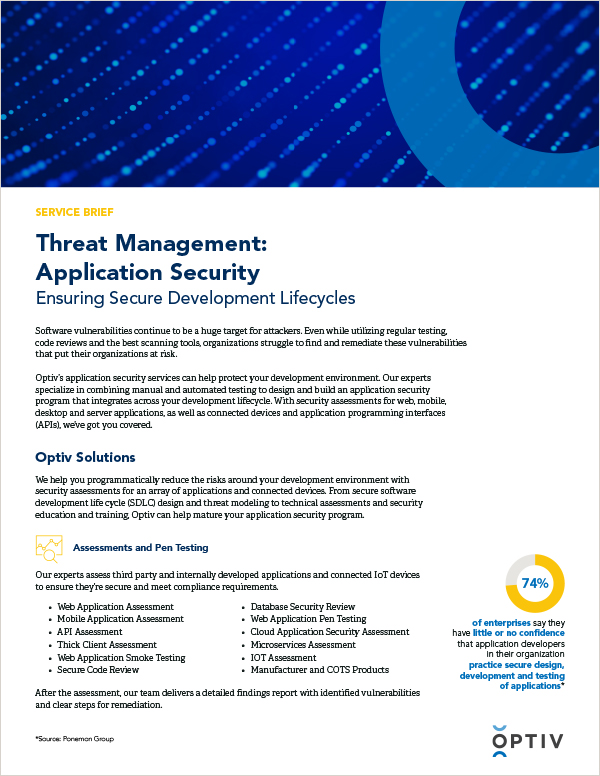 Threat Management: Application Security Service Brief
