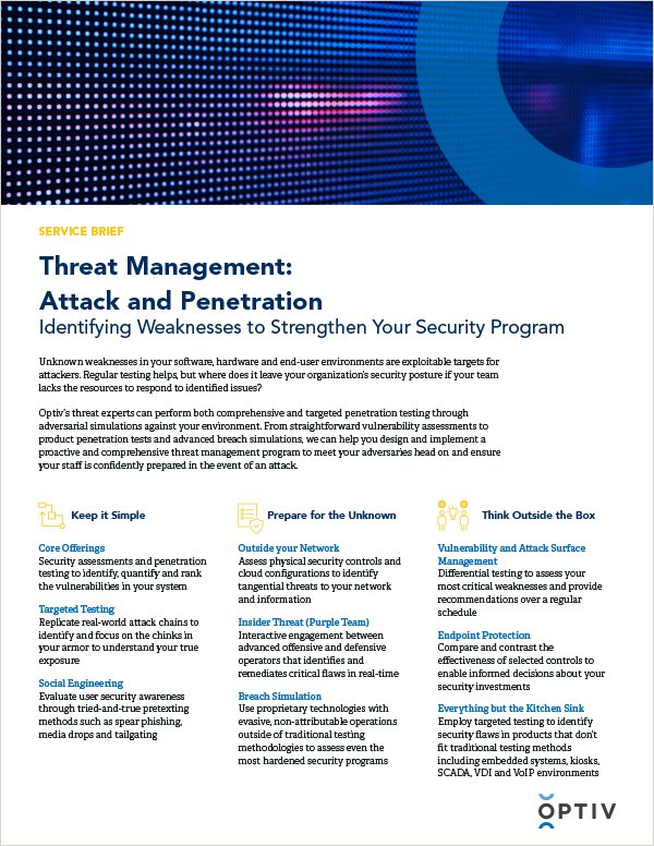 Threat Management: Attack and Penetration