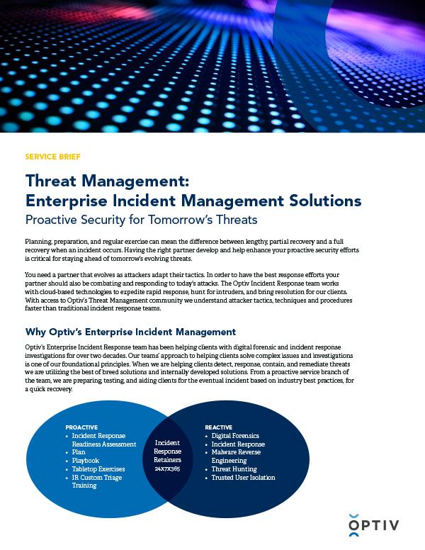 Enterprise Incident Management Service Brief