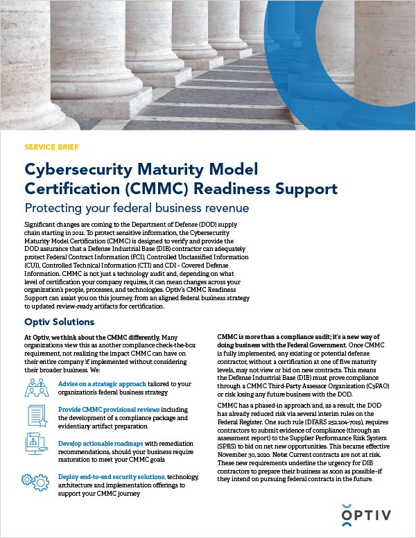 Cyber-Strategy-and-Transformation_CMMC_Service-Brief_Thumbnail-Image_600x776