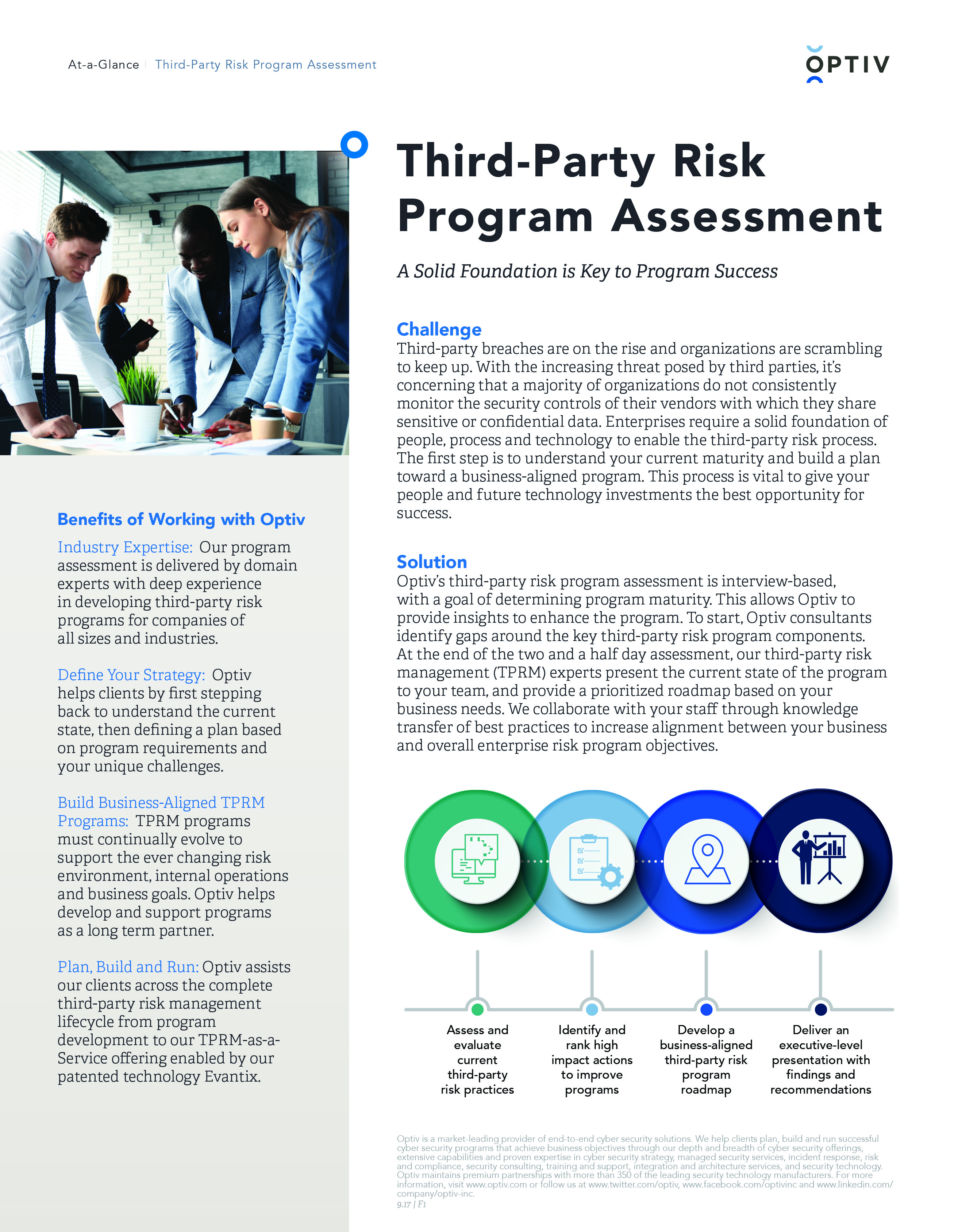 Third Party Risk Assessment At A Glance Brief