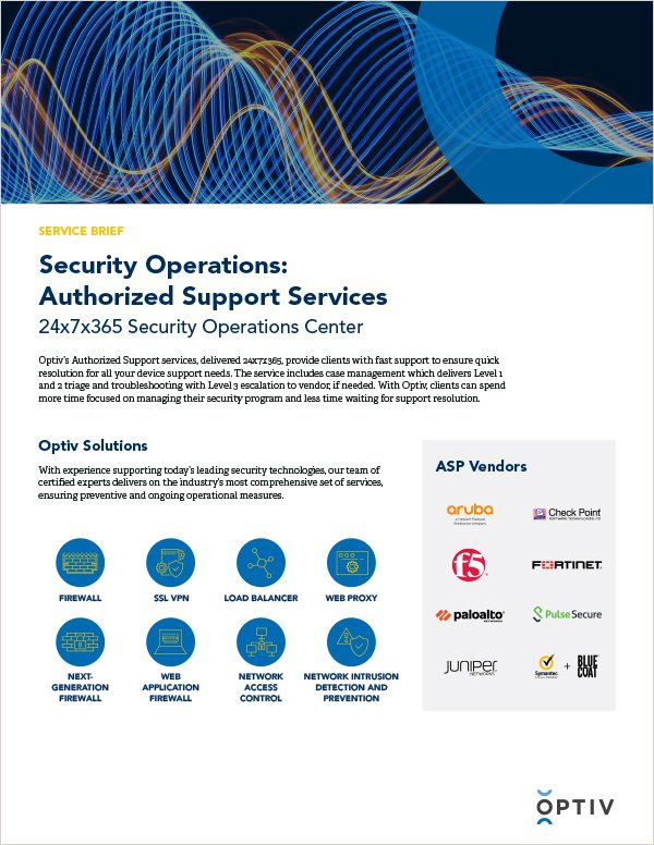 Authorized Support Capabilities Brief