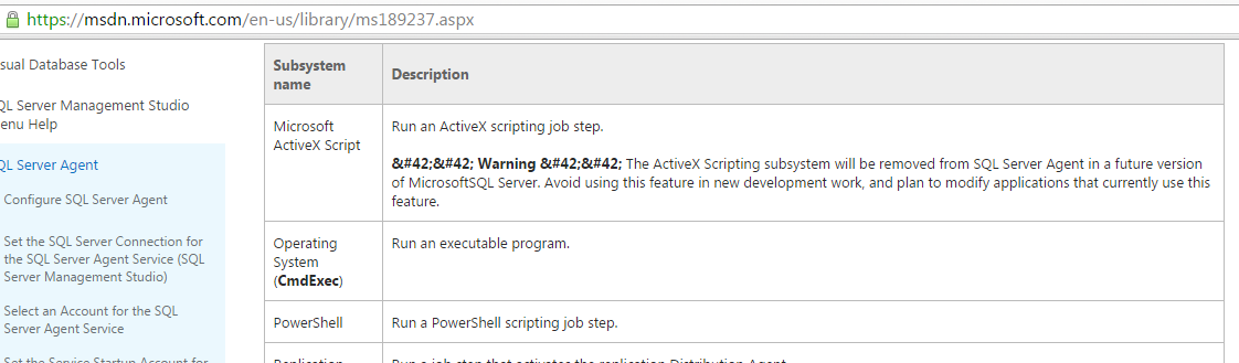 MSSQL Agent Jobs for Command Execution | Optiv